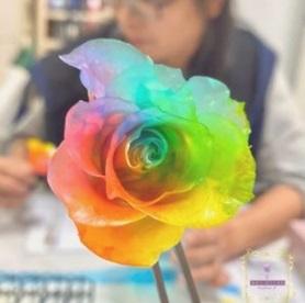 UDS不凋花-鮮花自製-彩虹玫瑰