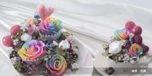 UDS協會 不凋花-鮮花自製-彩虹玫瑰