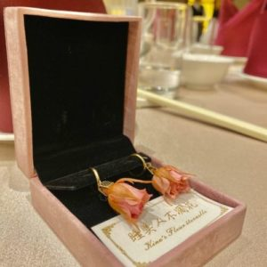 不凋花-鮮花自製-玫瑰耳環
